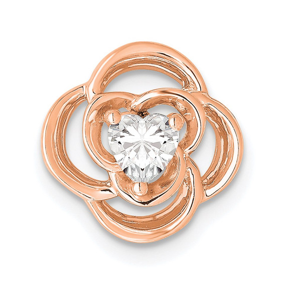 14k Rose Gold Lab Grown Diamond SI1/SI2, G H I, Flower Slide