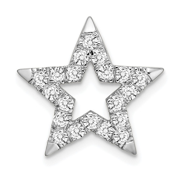 14k White Gold Lab Grown Diamond Si1/Si2 Ghi Star Pendant