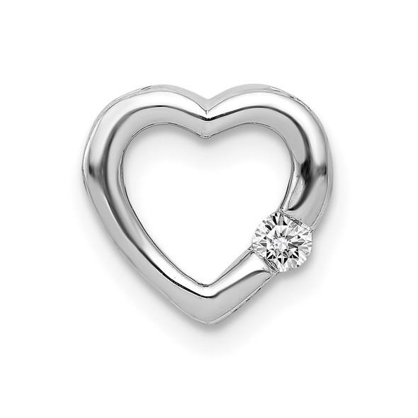 14k White Gold 1/20ctw Diamond Heart Slide PM4839-005-WA