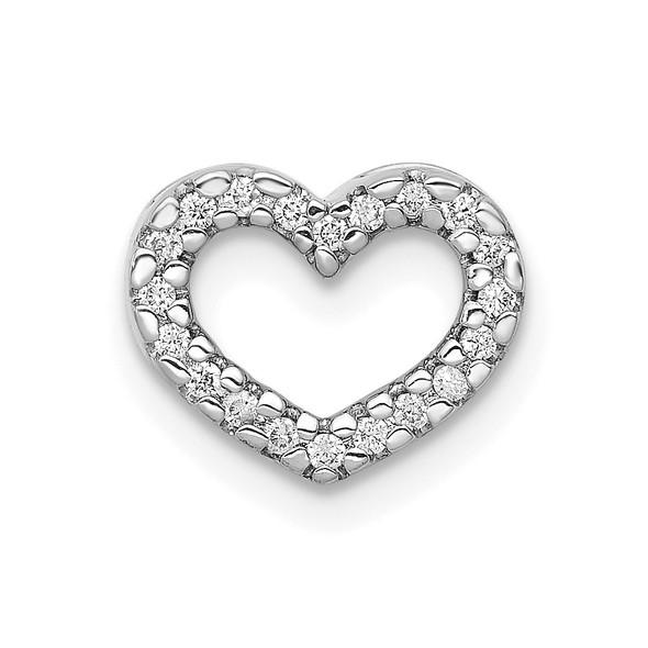 14k White Gold 1/15ctw Diamond Heart Slide PM4855-008-WA