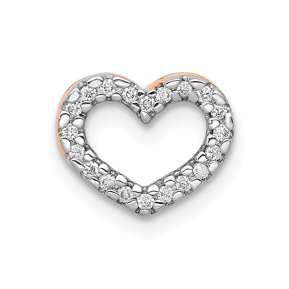 14k Rose Gold 1/15ctw Diamond Heart Slide