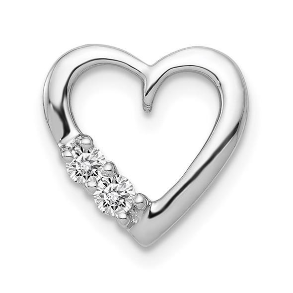 14k White Gold 1/10ctw Diamond Heart Slide PM4836-010-WA