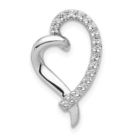 14k White Gold 1/10ctw Diamond Heart Slide PM4893-010-WA