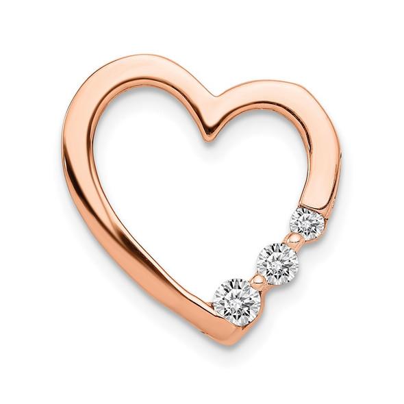 14k Rose Gold 1/6ctw Diamond Heart Slide