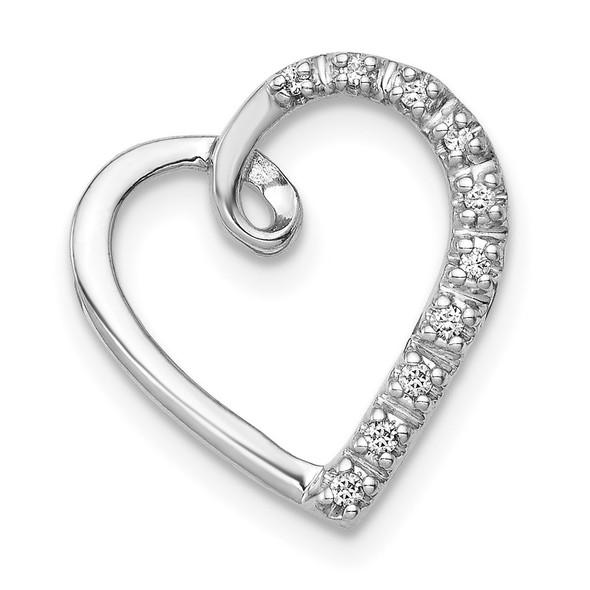 14k White Gold 1/20ctw Diamond Heart Slide PM4854-005-WA