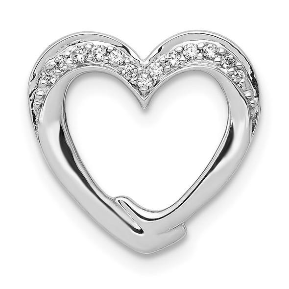 14k White Gold 1/15ctw Diamond Heart Slide PM4894-007-WA
