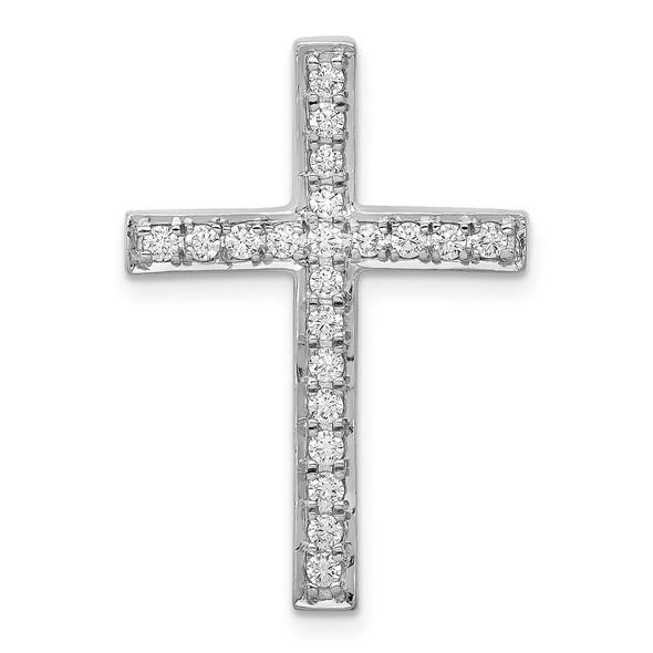 14k White Gold Lab Grown Diamond SI1/SI2, G H I, Cross Slide 5141