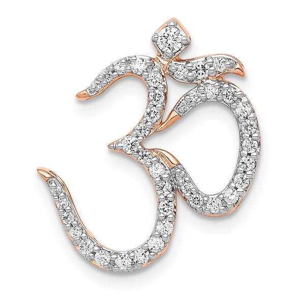 14k Rose Gold 1/3ctw Diamond Om Slide