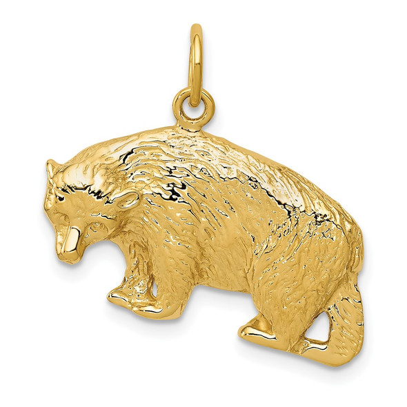 14k Yellow Gold Bear Charm