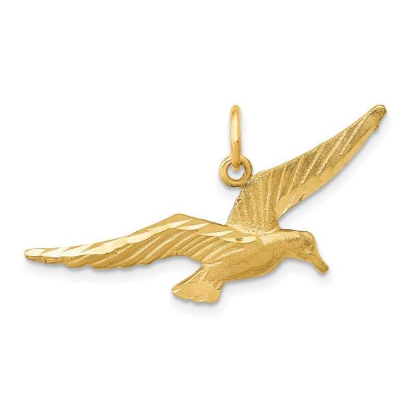 14k Yellow Gold Seagull Charm