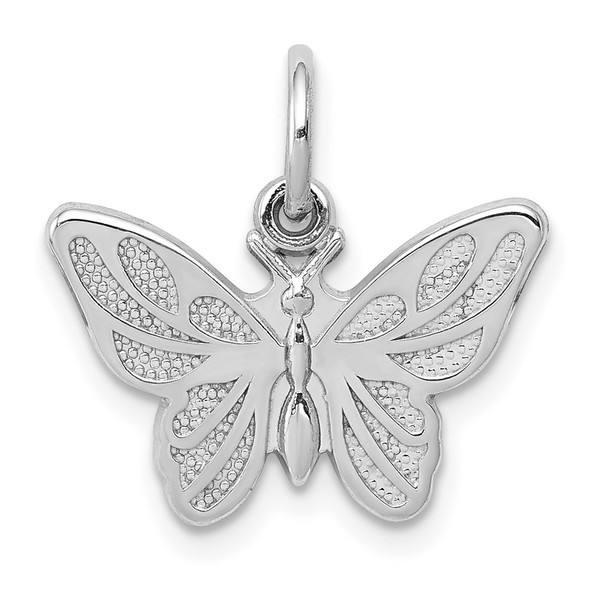 14k White Gold Butterfly Charm WCH81