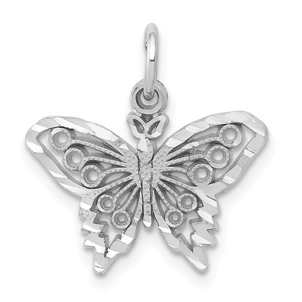 14k White Gold Butterfly Charm WCH80