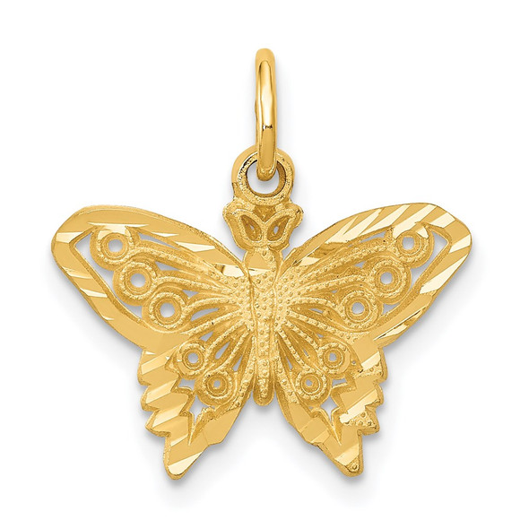 14k Yellow Gold Butterfly Charm M658