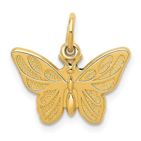 14k Yellow Gold Butterfly Charm C537