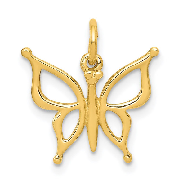 14k Yellow Gold Butterfly Charm XAC139