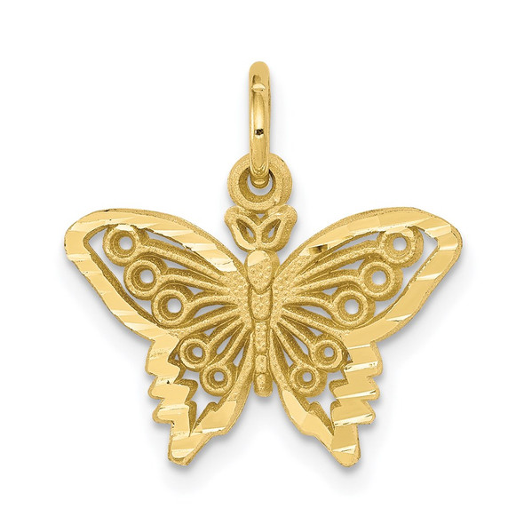 10k Yellow Gold Butterfly Charm 10C641