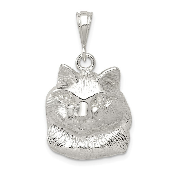 Sterling Silver Cat Charm QC2662