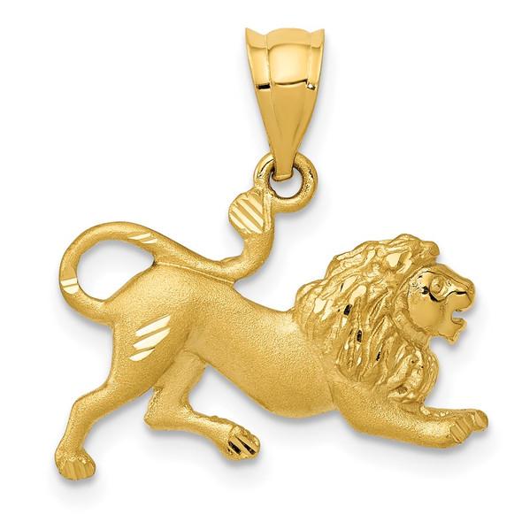 14k Yellow Gold Lion Charm C83