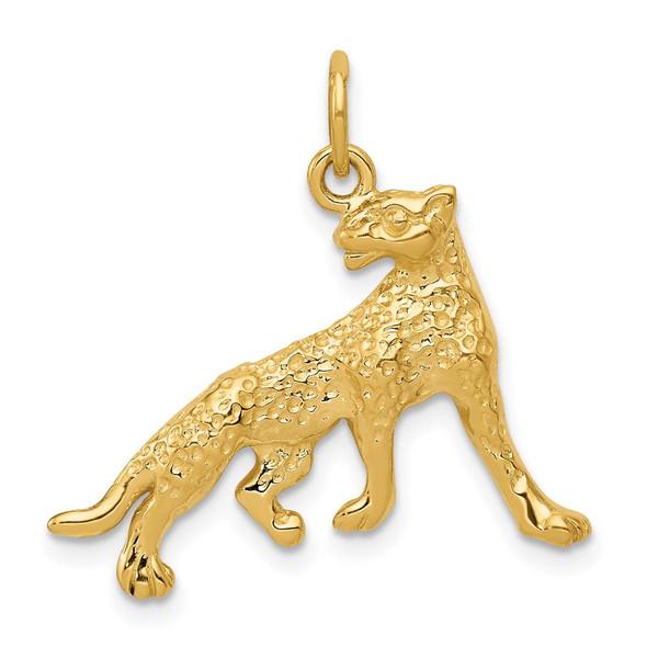 14k Yellow Gold Cheetah Charm