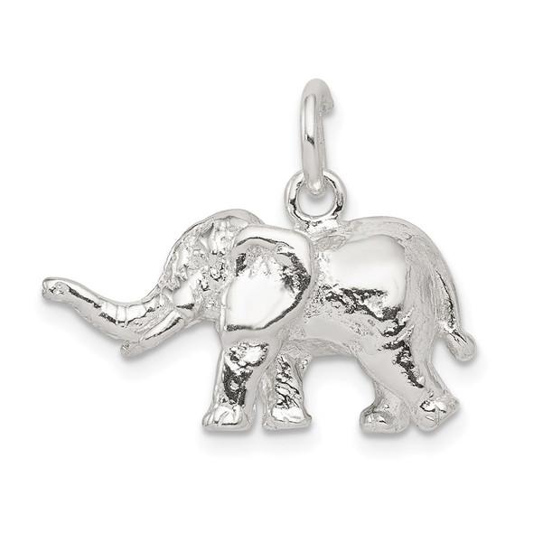 Sterling Silver Elephant Charm QC913
