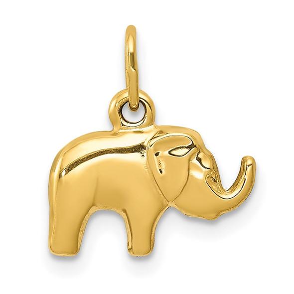 14k Yellow Gold Elephant Charm C3531