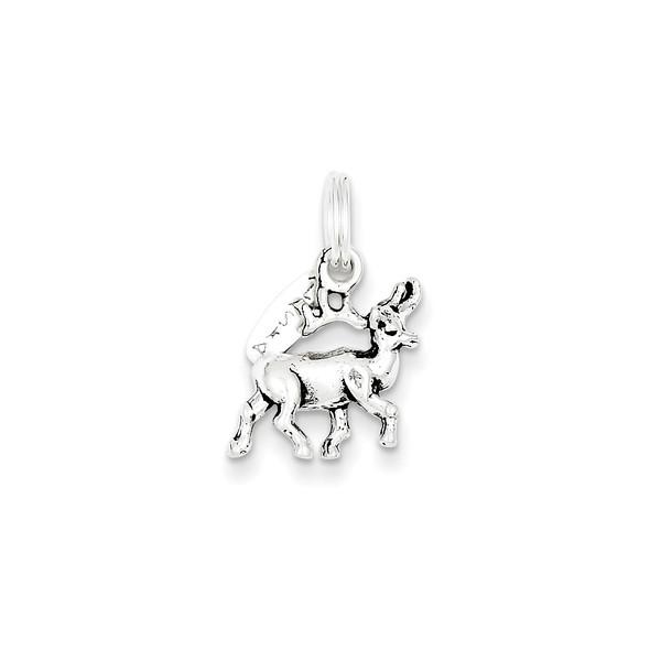 Sterling Silver Antiqued Alaska Moose Charm