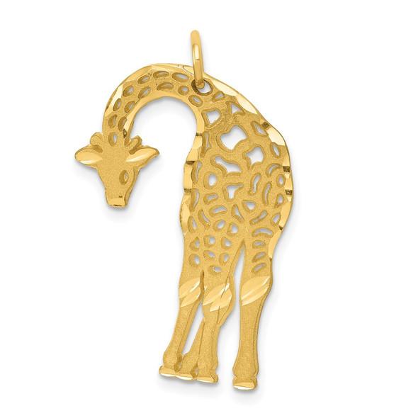 14k Yellow Gold Giraffe Charm C1907