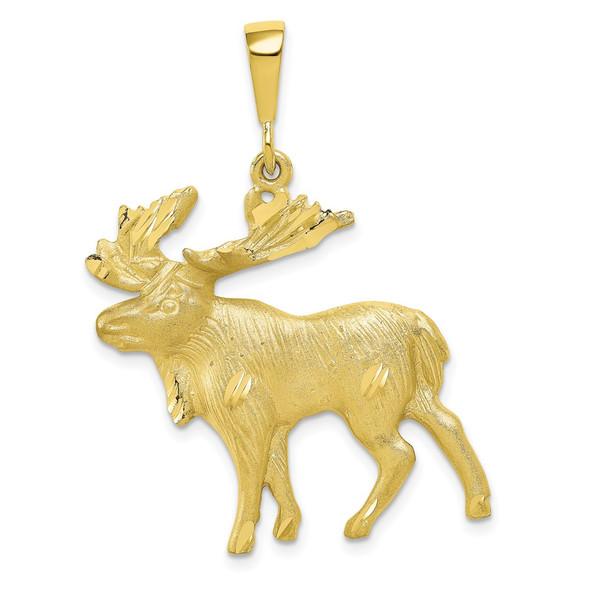 10k Yellow Gold Moose Charm