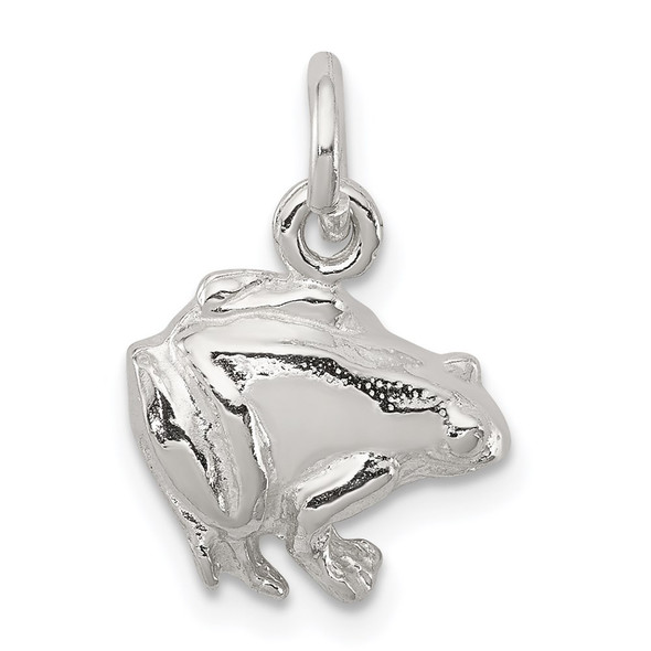 Sterling Silver Frog Charm QC969