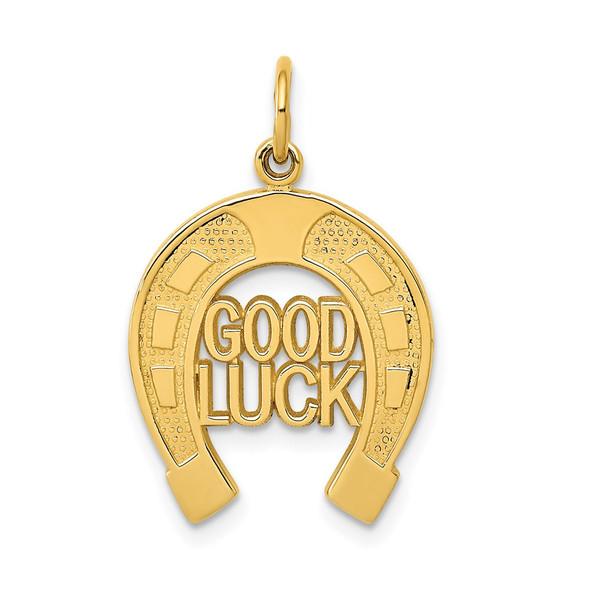 14k Yellow Gold Horseshoe Good Luck Charm