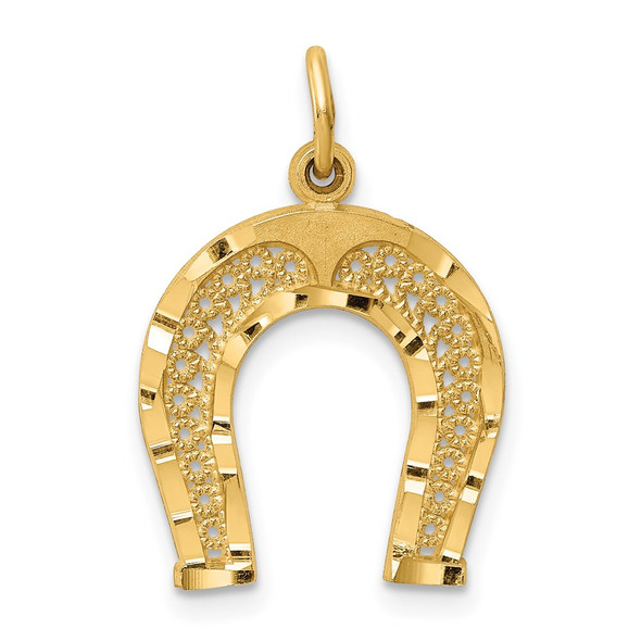 14k Yellow Gold Horseshoe Charm C453