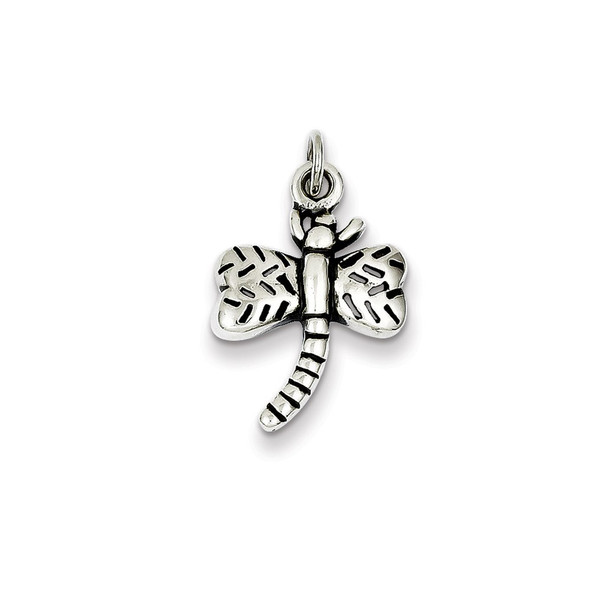 Sterling Silver Antiqued Dragonfly Charm QC4995
