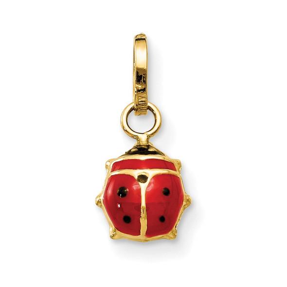 14k Yellow Gold Enameled Ladybug Charm M2220