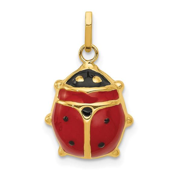14k Yellow Gold Enameled Ladybug Charm XCH214