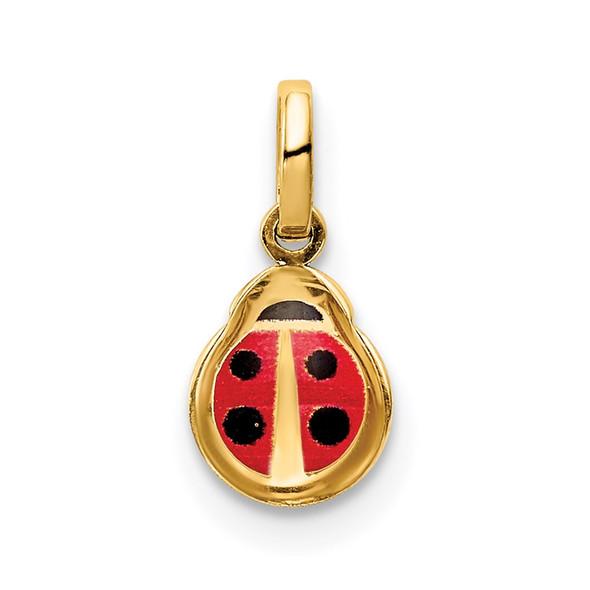 14k Yellow Gold Enamel Ladybug Charm