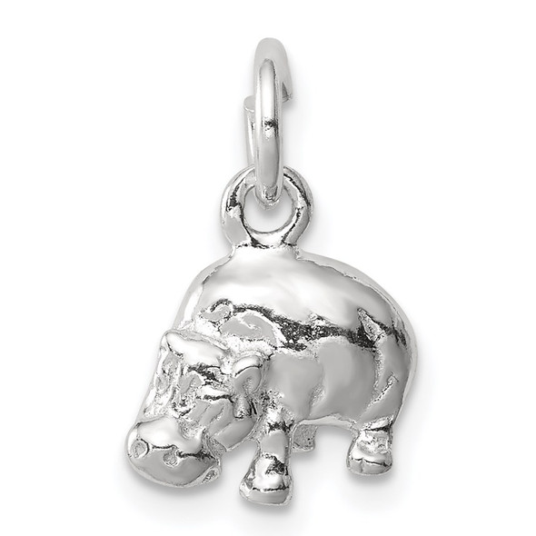 Sterling Silver Hippo Charm