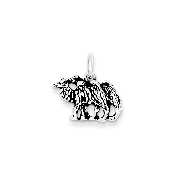 Sterling Silver Antiqued Camel Charm QC7848