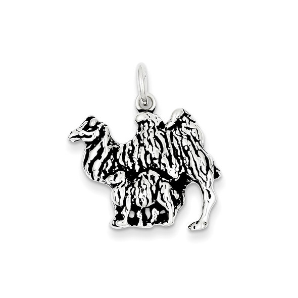 Sterling Silver Antiqued Camel Charm QC7847