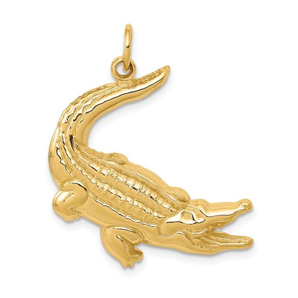 14k Yellow Gold Alligator Charm