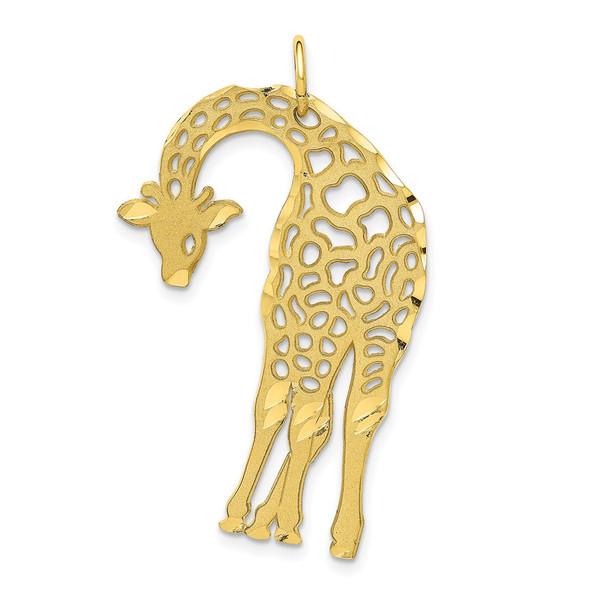 10k Yellow Gold Giraffe Charm