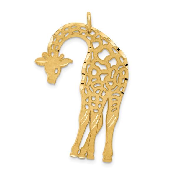 14k Yellow Gold Giraffe Charm C1163