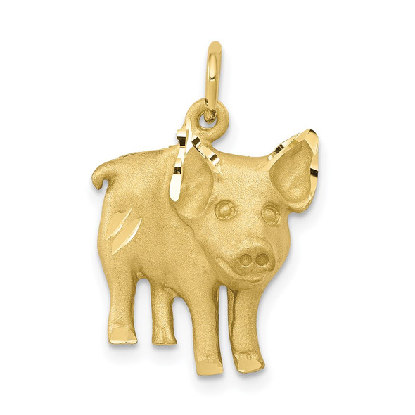 10k Yellow Gold Pig Charm