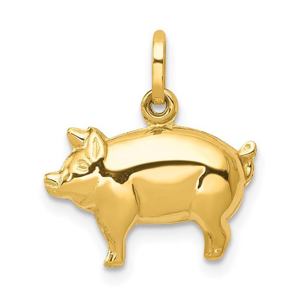 14k Yellow Gold Pig Charm XCH170