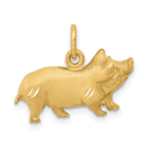 14k Yellow Gold Pig Charm C1160