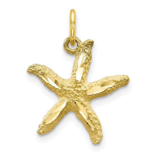 10k Yellow Gold Starfish Charm