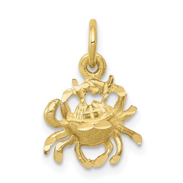 10k Yellow Gold Crab Charm