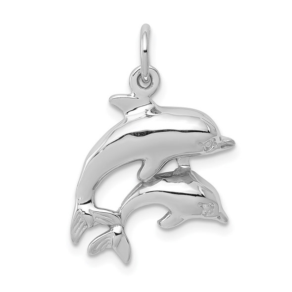14k White Gold Dolphin Charm WCH107