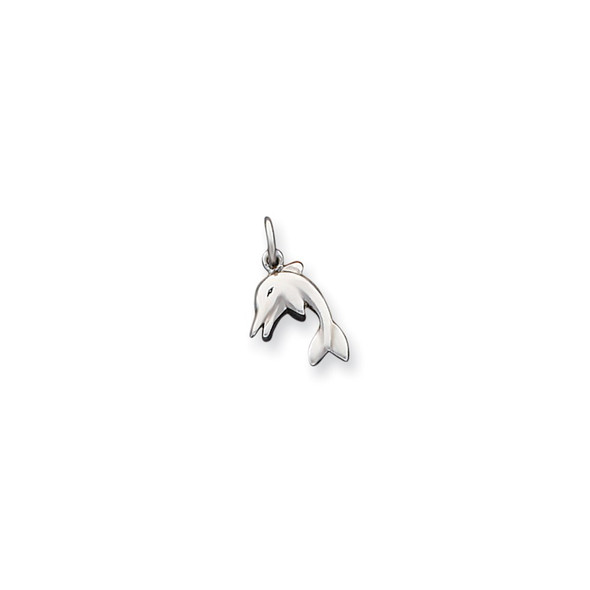 Sterling Silver Dolphin Charm QC4885