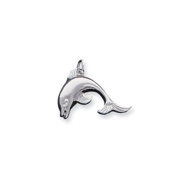 Sterling Silver Dolphin Charm QC90