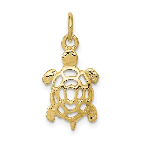10k Yellow Gold Turtle Charm 10C537